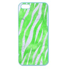 Skin3 White Marble & Green Watercolor Apple Seamless Iphone 5 Case (color) by trendistuff