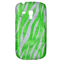 Skin3 White Marble & Green Watercolor Samsung Galaxy S3 Mini I8190 Hardshell Case