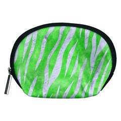 Skin3 White Marble & Green Watercolor Accessory Pouches (medium)