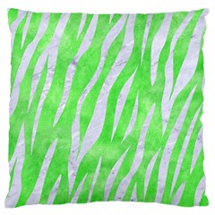 Skin3 White Marble & Green Watercolor Standard Flano Cushion Case (one Side)