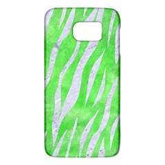 Skin3 White Marble & Green Watercolor Samsung Galaxy S6 Hardshell Case