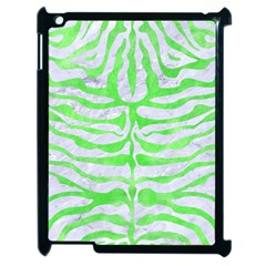 Skin2 White Marble & Green Watercolor (r) Apple Ipad 2 Case (black)