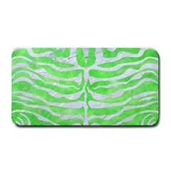 Skin2 White Marble & Green Watercolor Medium Bar Mats