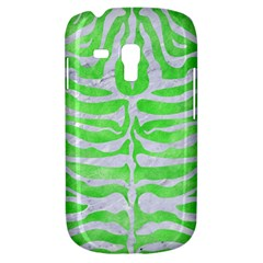 Skin2 White Marble & Green Watercolor Samsung Galaxy S3 Mini I8190 Hardshell Case