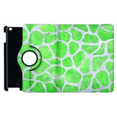 Skin1 White Marble & Green Watercolor (r) Apple Ipad 3/4 Flip 360 Case