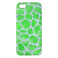 Skin1 White Marble & Green Watercolor (r) Apple Iphone 5 Premium Hardshell Case