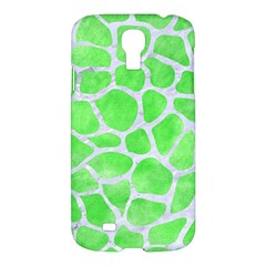 Skin1 White Marble & Green Watercolor (r) Samsung Galaxy S4 I9500/i9505 Hardshell Case