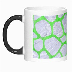 Skin1 White Marble & Green Watercolor Morph Mugs