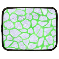 Skin1 White Marble & Green Watercolor Netbook Case (xl)