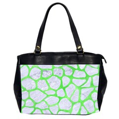 Skin1 White Marble & Green Watercolor Office Handbags (2 Sides)