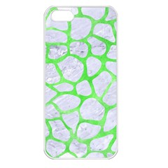 Skin1 White Marble & Green Watercolor Apple Iphone 5 Seamless Case (white)