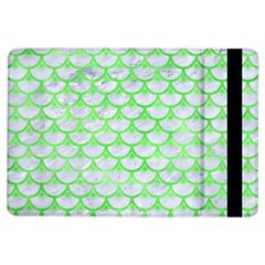 Scales3 White Marble & Green Watercolor (r) Ipad Air Flip