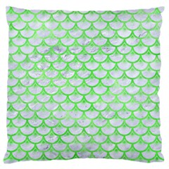 Scales3 White Marble & Green Watercolor (r) Standard Flano Cushion Case (two Sides)