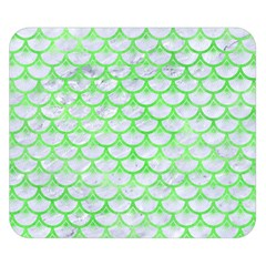 Scales3 White Marble & Green Watercolor (r) Double Sided Flano Blanket (small)