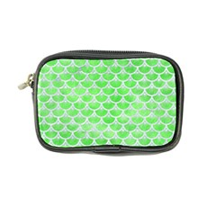 Scales3 White Marble & Green Watercolor Coin Purse