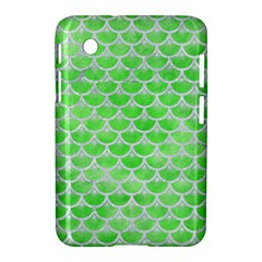 Scales3 White Marble & Green Watercolor Samsung Galaxy Tab 2 (7 ) P3100 Hardshell Case