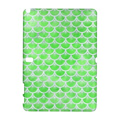 Scales3 White Marble & Green Watercolor Samsung Galaxy Note 10 1 (p600) Hardshell Case