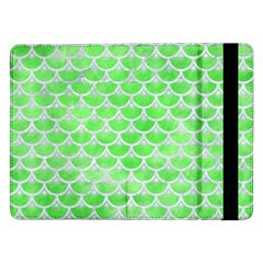 Scales3 White Marble & Green Watercolor Samsung Galaxy Tab Pro 12 2  Flip Case