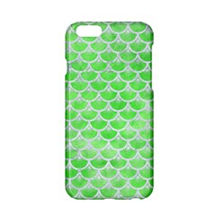 Scales3 White Marble & Green Watercolor Apple Iphone 6/6s Hardshell Case