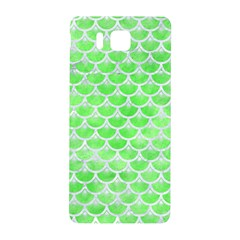 Scales3 White Marble & Green Watercolor Samsung Galaxy Alpha Hardshell Back Case