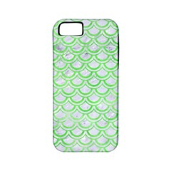 Scales2 White Marble & Green Watercolor (r) Apple Iphone 5 Classic Hardshell Case (pc+silicone)
