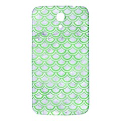 Scales2 White Marble & Green Watercolor (r) Samsung Galaxy Mega I9200 Hardshell Back Case