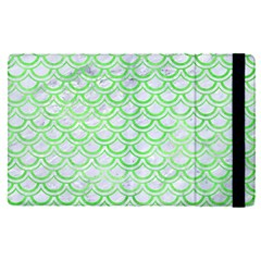 Scales2 White Marble & Green Watercolor (r) Apple Ipad Pro 12 9   Flip Case