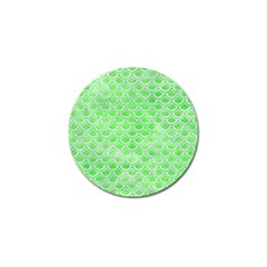 Scales2 White Marble & Green Watercolor Golf Ball Marker (4 Pack)
