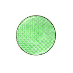 Scales2 White Marble & Green Watercolor Hat Clip Ball Marker (10 Pack)