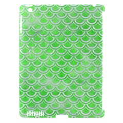 Scales2 White Marble & Green Watercolor Apple Ipad 3/4 Hardshell Case (compatible With Smart Cover)