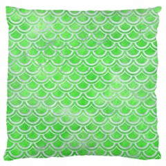Scales2 White Marble & Green Watercolor Large Cushion Case (two Sides)