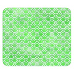 Scales2 White Marble & Green Watercolor Double Sided Flano Blanket (small)