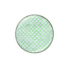 Scales1 White Marble & Green Watercolor (r) Hat Clip Ball Marker (4 Pack)