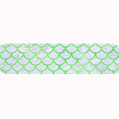 Scales1 White Marble & Green Watercolor (r) Large Bar Mats
