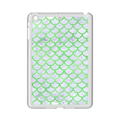 Scales1 White Marble & Green Watercolor (r) Ipad Mini 2 Enamel Coated Cases