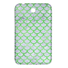 Scales1 White Marble & Green Watercolor (r) Samsung Galaxy Tab 3 (7 ) P3200 Hardshell Case