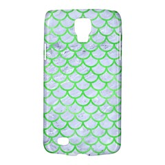 Scales1 White Marble & Green Watercolor (r) Samsung Galaxy S4 Active (i9295) Hardshell Case