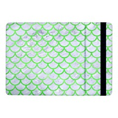 Scales1 White Marble & Green Watercolor (r) Samsung Galaxy Tab Pro 10 1  Flip Case