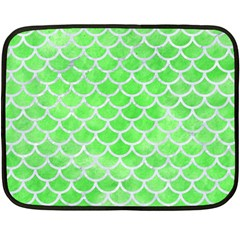 Scales1 White Marble & Green Watercolor Fleece Blanket (mini)