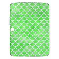 Scales1 White Marble & Green Watercolor Samsung Galaxy Tab 3 (10 1 ) P5200 Hardshell Case