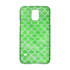 Scales1 White Marble & Green Watercolor Samsung Galaxy S5 Hardshell Case
