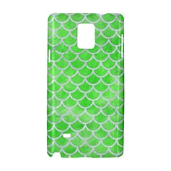 Scales1 White Marble & Green Watercolor Samsung Galaxy Note 4 Hardshell Case