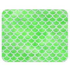 Scales1 White Marble & Green Watercolor Double Sided Flano Blanket (medium)