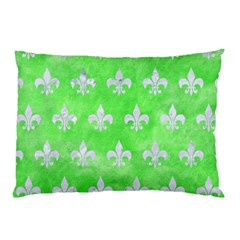 Royal1 White Marble & Green Watercolor (r) Pillow Case