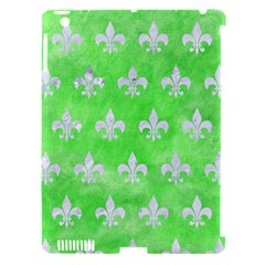 Royal1 White Marble & Green Watercolor (r) Apple Ipad 3/4 Hardshell Case (compatible With Smart Cover)