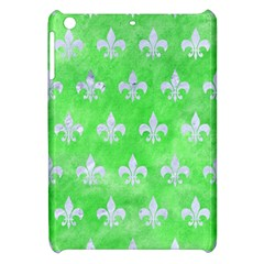 Royal1 White Marble & Green Watercolor (r) Apple Ipad Mini Hardshell Case