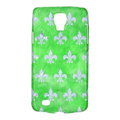 Royal1 White Marble & Green Watercolor (r) Samsung Galaxy S4 Active (i9295) Hardshell Case