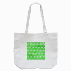 Royal1 White Marble & Green Watercolor (r) Tote Bag (white)