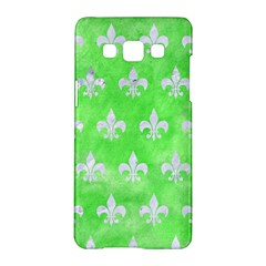 Royal1 White Marble & Green Watercolor (r) Samsung Galaxy A5 Hardshell Case