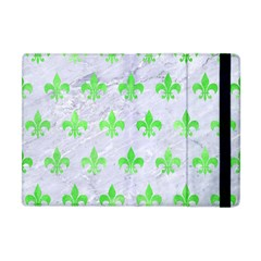 Royal1 White Marble & Green Watercolor Apple Ipad Mini Flip Case